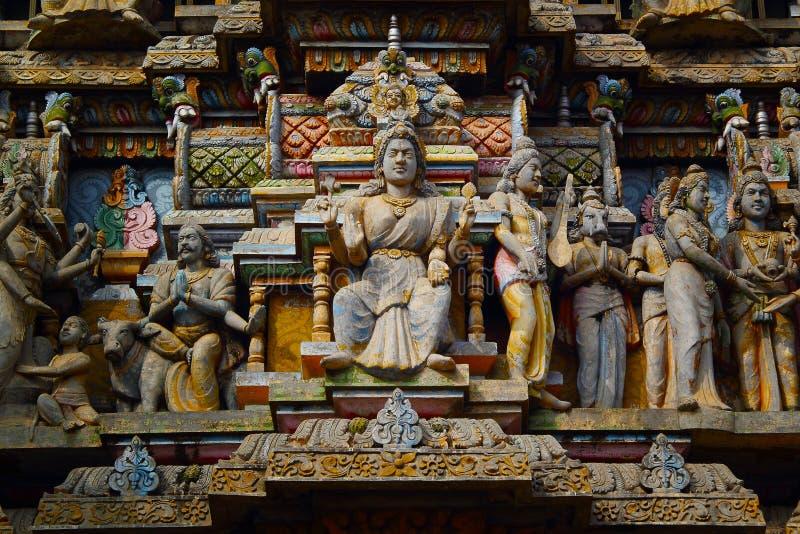 Hindoese standbeelden in Sri Lanka royalty-vrije stock foto's