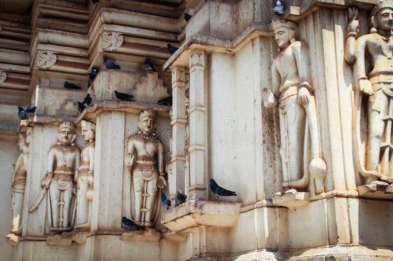 Hindoese tempel in Kampala oeganda royalty-vrije stock foto's