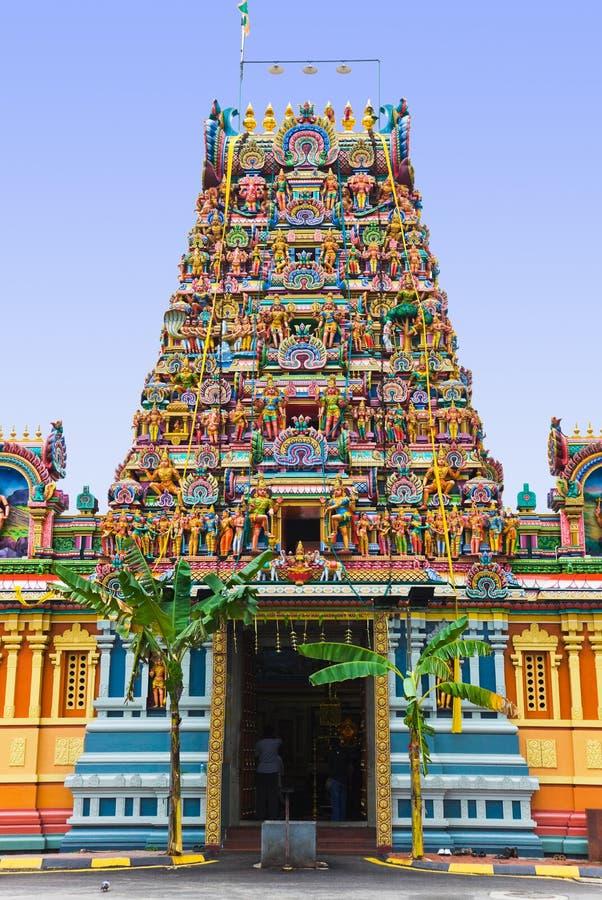 Hindoese tempel in Kuala Lumpur Maleisië stock foto