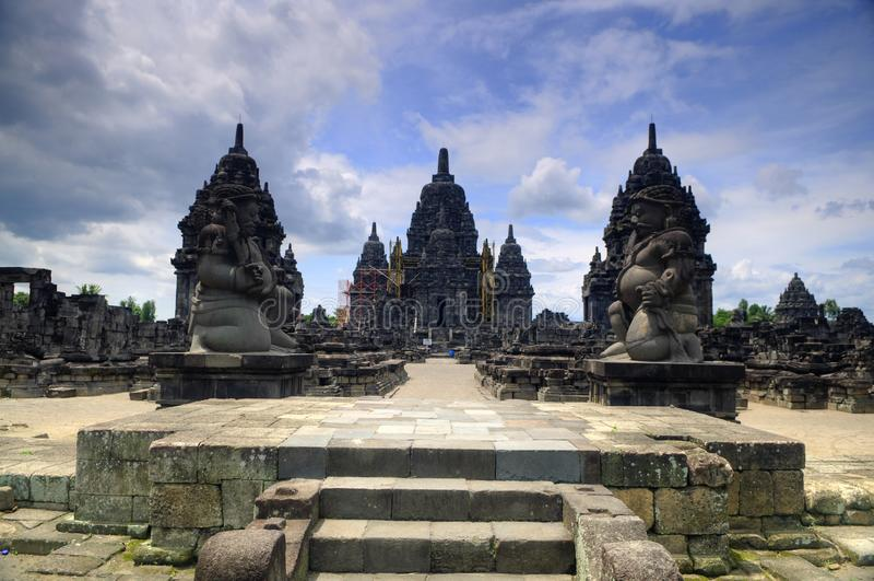 Hindoese tempel in Prambanan stock afbeelding