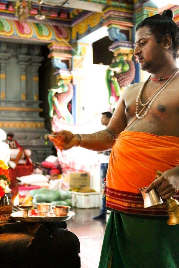 Hindoese tempel in Victoria Mahe Seychelles royalty-vrije stock foto