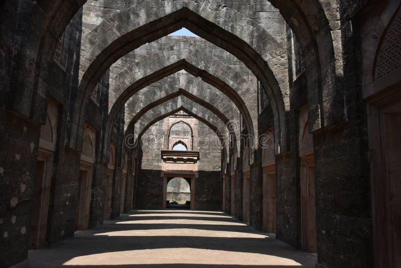 Hindola Mahal, Mandu, Madhya Pradesh fotografia stock