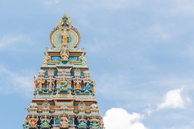 Hindu colorful temple in India royalty free stock photography