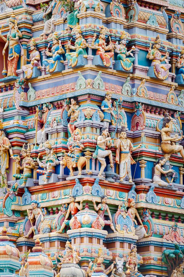 Hindu colorful temple royalty free stock images
