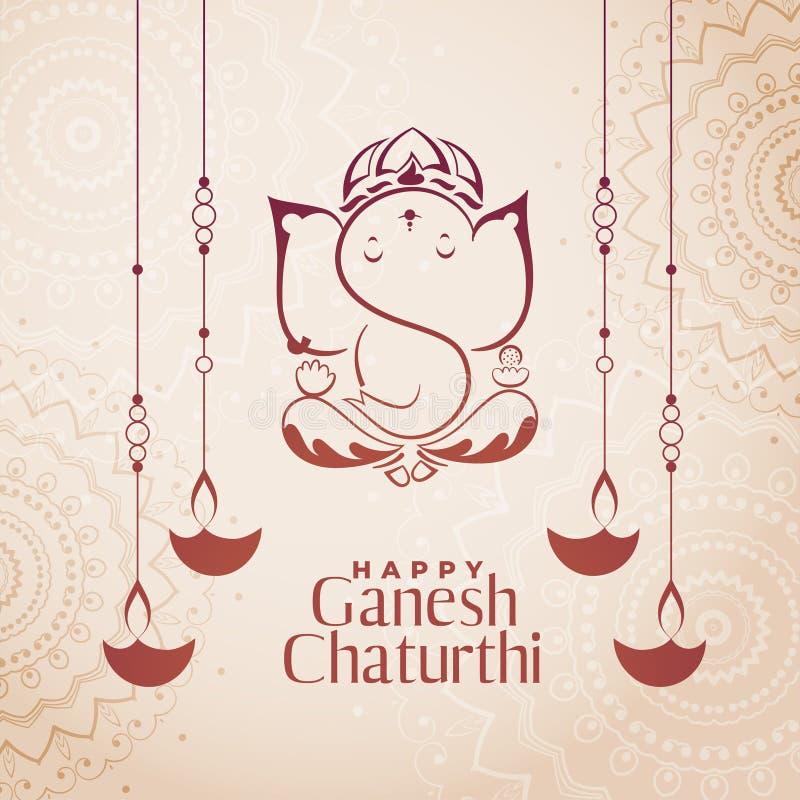 Free Hindu Culture Festival Of Ganesh Chaturthi Background Royalty Free Stock Images - 156282549