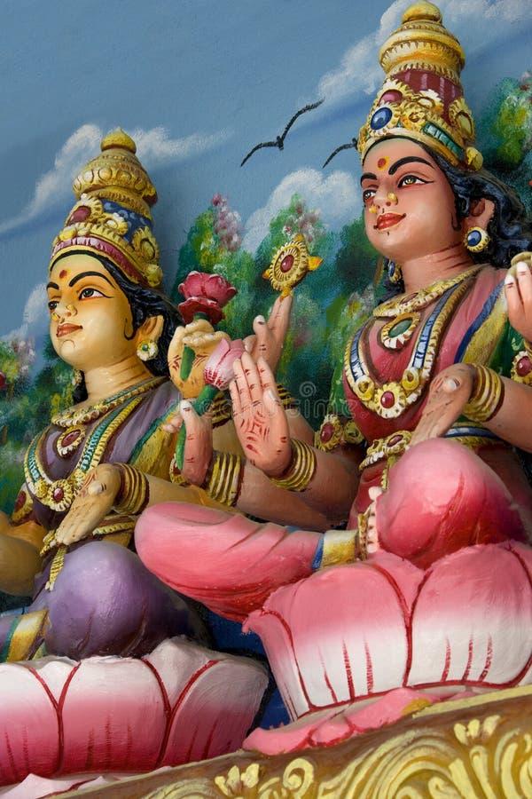 Hindu Deities. At a Hindu temple in Malaysia royalty free stock image