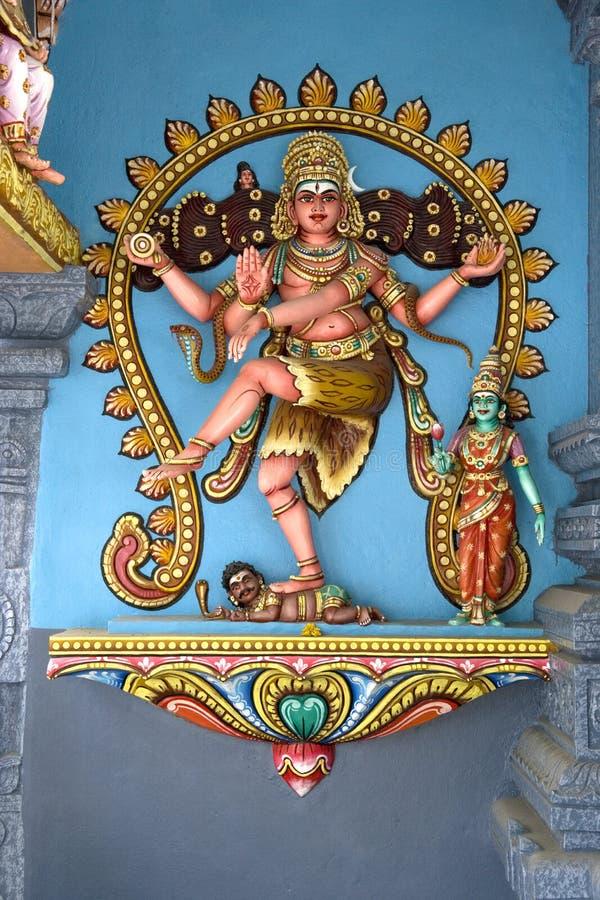 Hindu Deity. At a Hindu temple in Malaysia stock photos