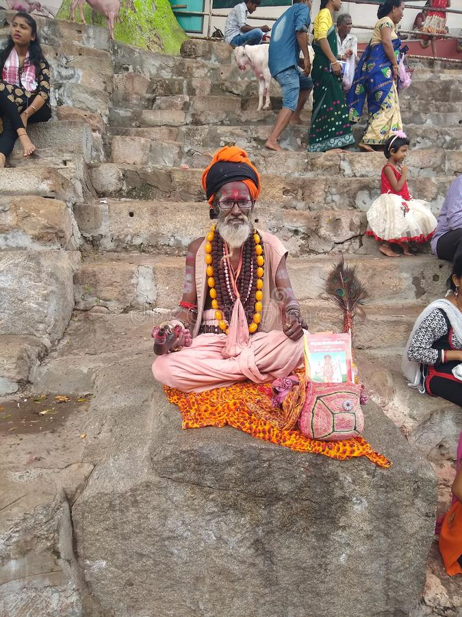 Hindu Dharm, baba Kamrup Kamakhya royalty free stock photo
