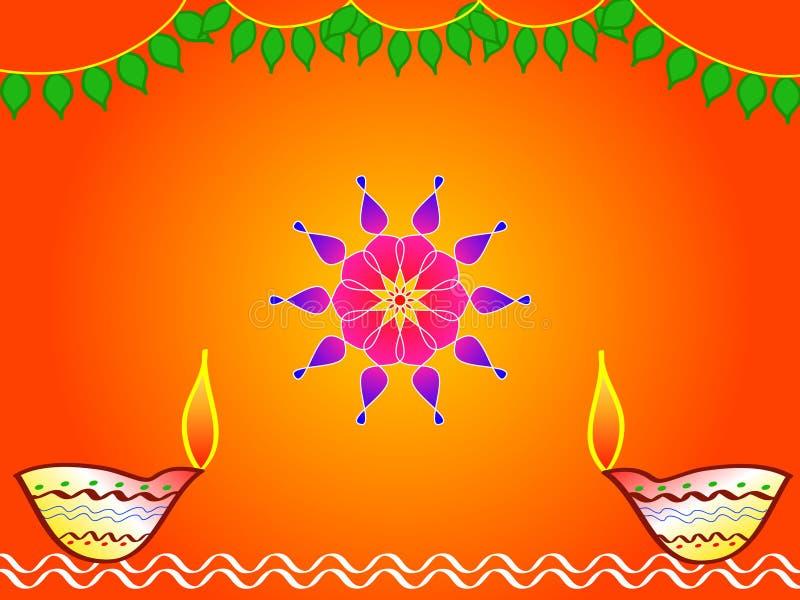 Hindu festival diwali design royalty free illustration