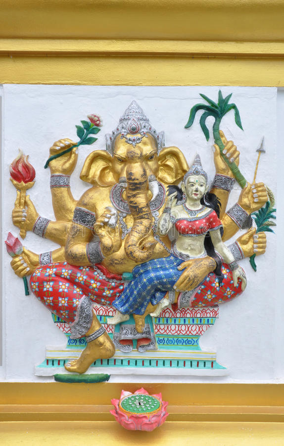 Hindu ganesha God stock photos