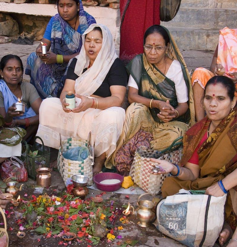 Hindu Ghats - Varanasi - India stock image