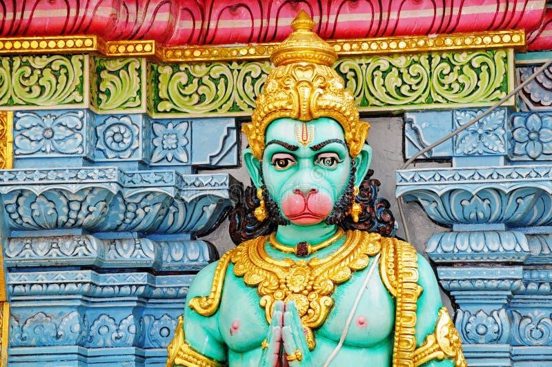 Hindu God. Statue Outside A Hindu Temple royalty free stock photo