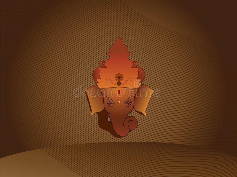 Hindu God Ganesh. Hindu God Lord ganesh on abstract background royalty free illustration
