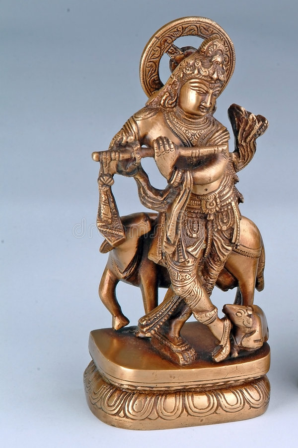 Hindu God Krishna stock photography