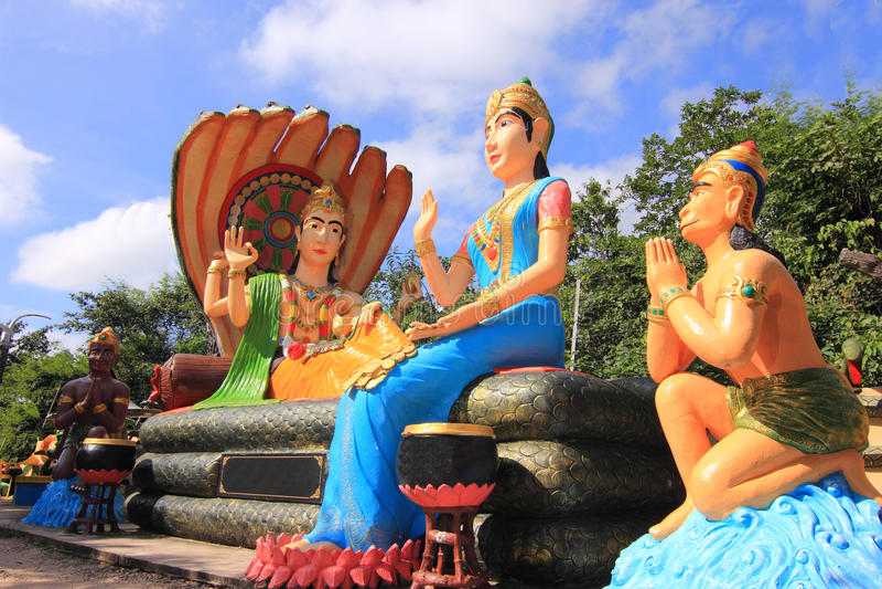 Download Hindu God Rama With His Wife Mata Sita And Hanuman Royalty Free Stock Photography - Image: 27381747