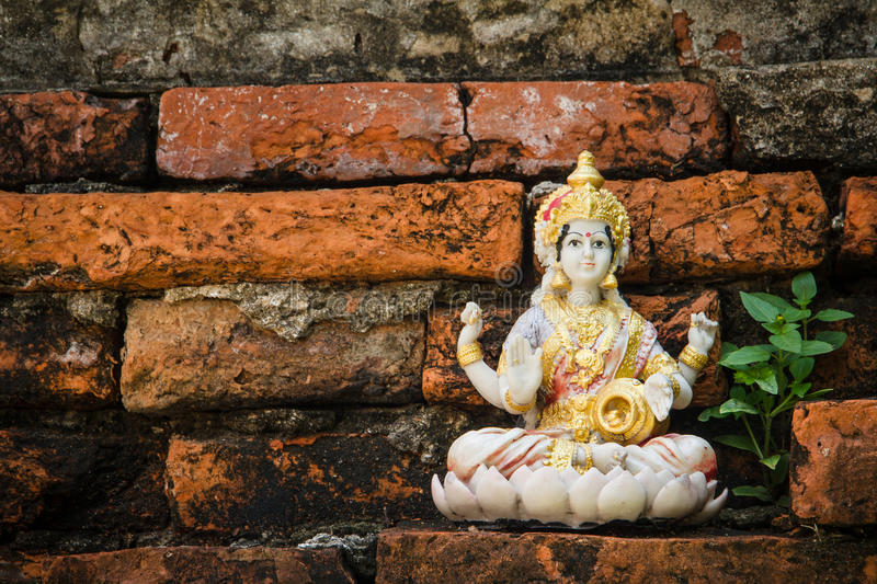 Hindu gods. In temple thailand royalty free stock images