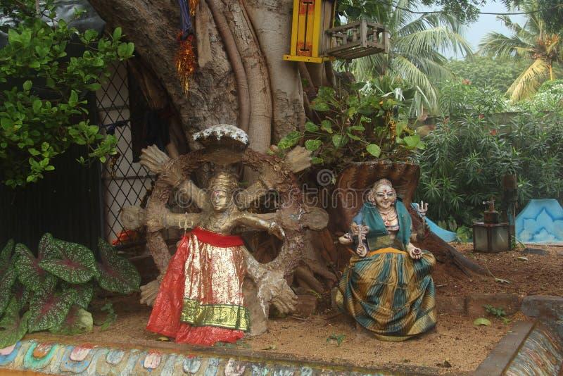 Hindu idols. In Trincomalee (Sri Lanka stock image