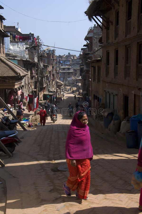 Hindu im Rot lizenzfreies stockbild
