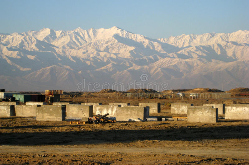 Hindu Kush from Bagram Airfield royalty free stock photos