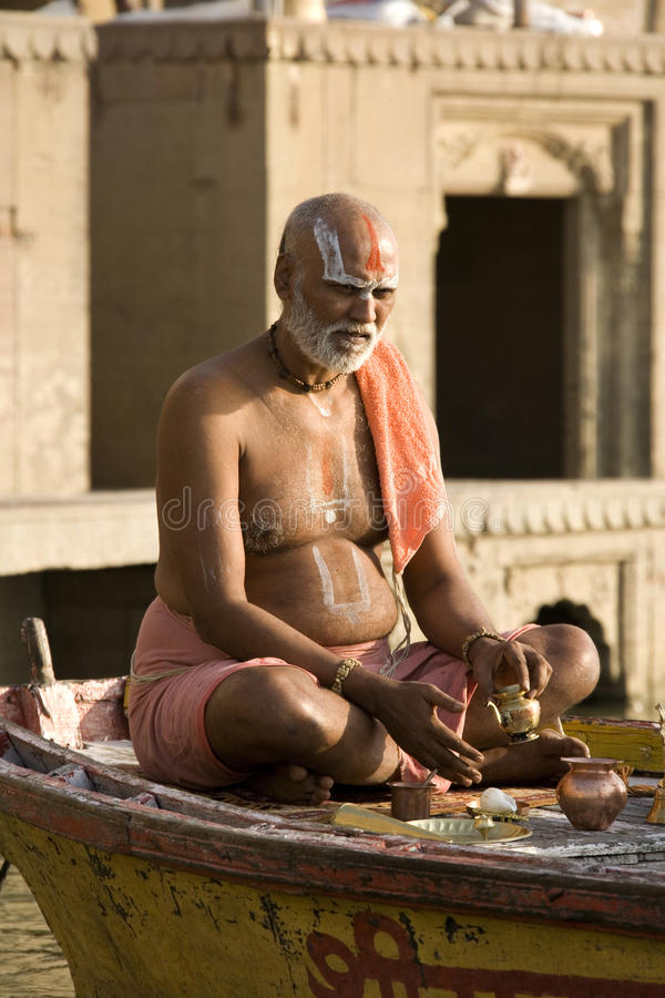 Download Hindu Man In Religious Contemplation - India Editorial Stock Image - Image: 15239264