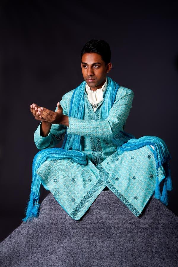 Free Hindu Man Sitting In Lotus Position Stock Photo - 10765000