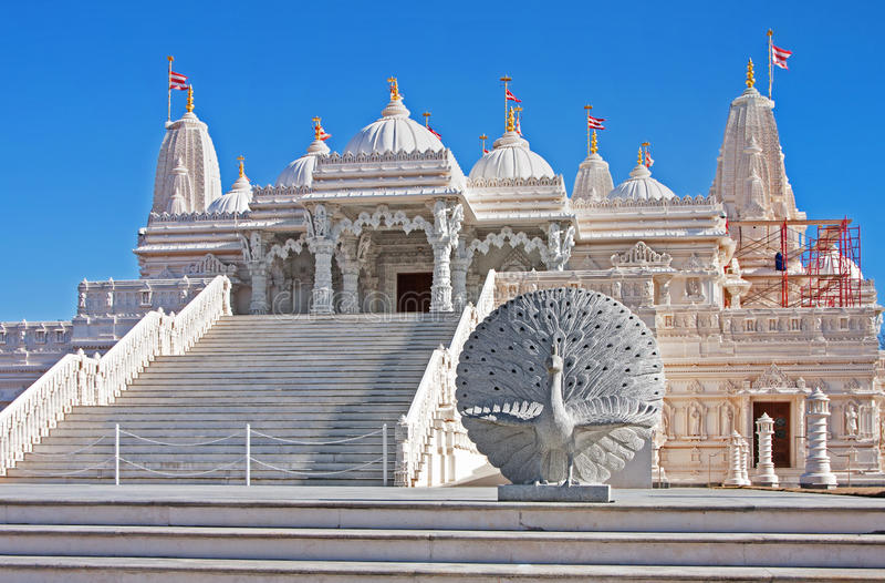 Hindu Mandir Temple made of Marble stock image
