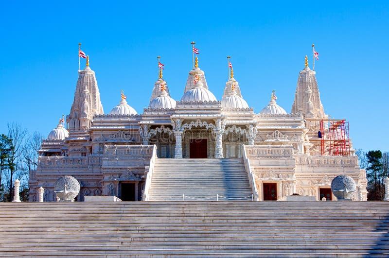 Hindu Mandir Temple made of Marble stock photography