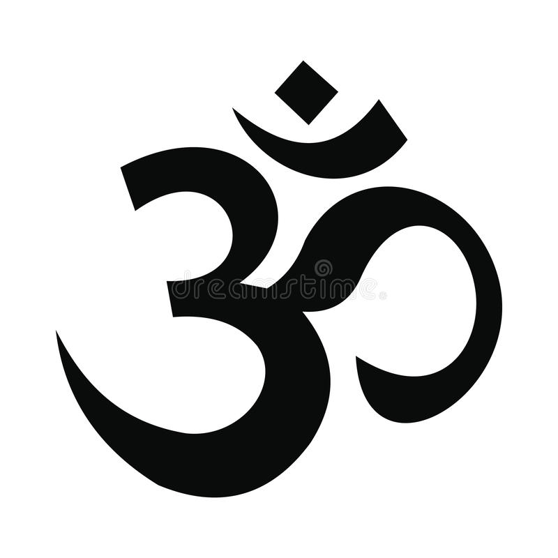 Hindu om symbol icon, simple style. Hindu om symbol icon in simple style on white background stock illustration