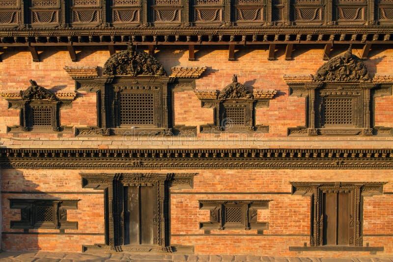 Hindu palace. Famous Hindu palace of 55 Windows at Bhaktapur, Nepal royalty free stock images