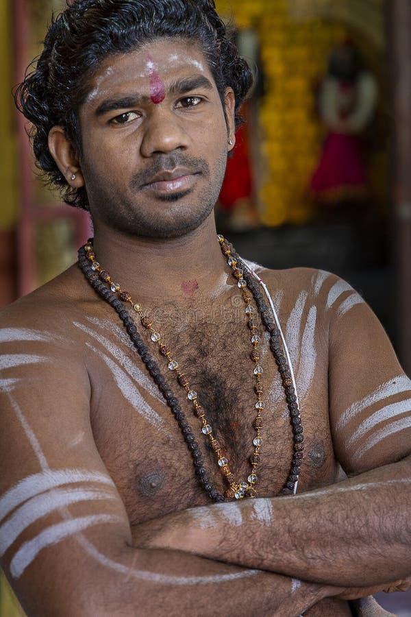 Hindu Priest, Sri Lanka stock photo