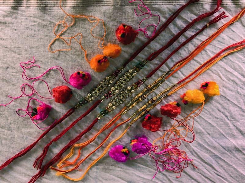 Hindu Raksha Bandhan Rakhi Festivals Religion Thread Lok Gram Kalyan East royalty-vrije stock foto's
