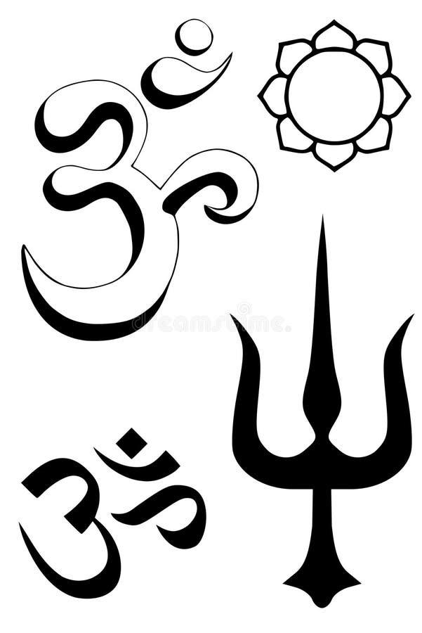 Download Hindu religious symbols stock vector. Image of religious - 7524074