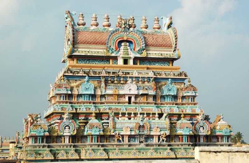 Hindu SriRangam Temple in Tiruchirapalli,India royalty free stock photography