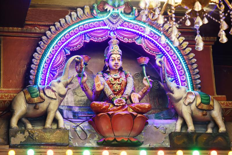 Hindu Statues at Batu Caves Kuala Lumpur Malaysia. royalty free stock photography