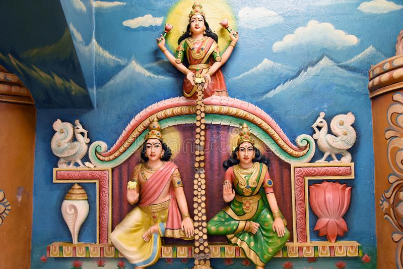 Hindu Statues at Batu Caves Kuala Lumpur Malaysia. royalty free stock image