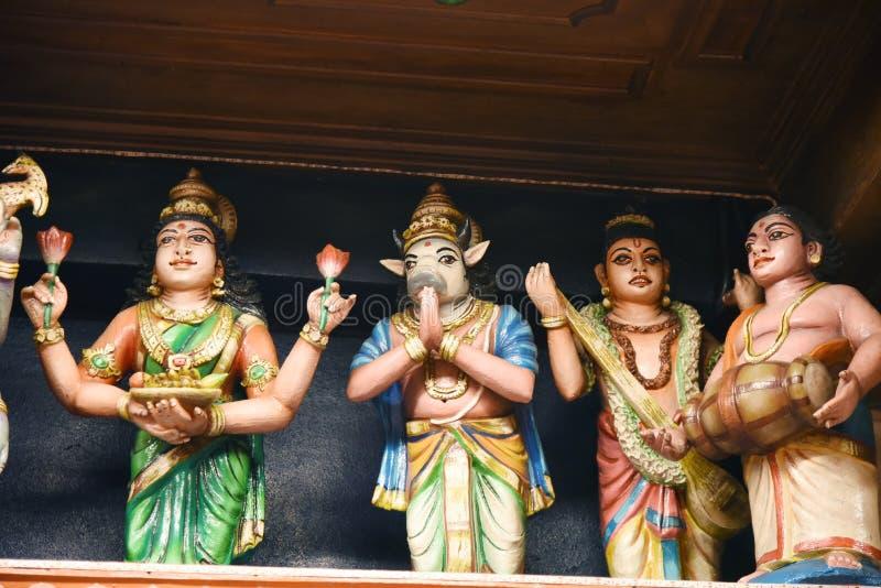 Hindu Statues at Batu Caves Kuala Lumpur Malaysia. stock images