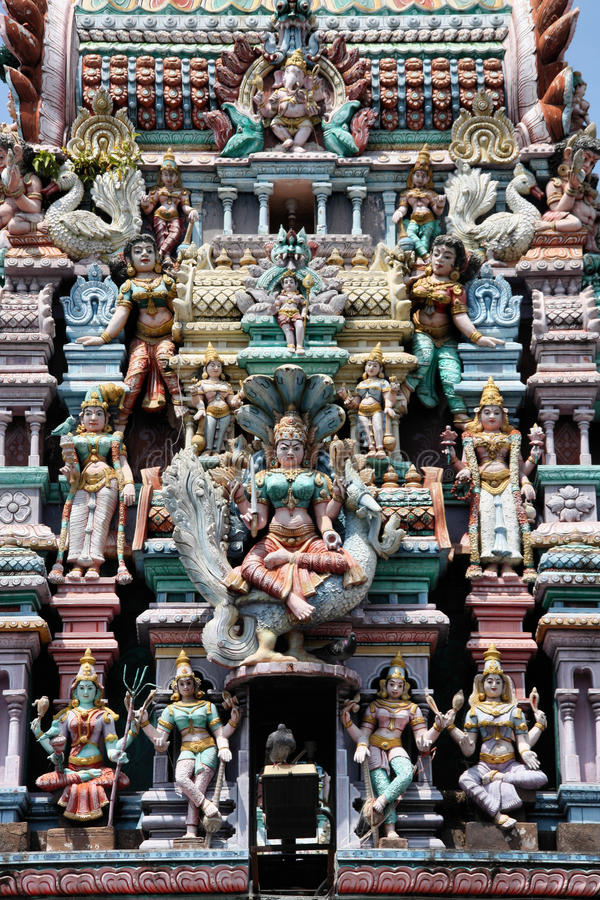 Hindu temple. In Georgetown, Penang Island, Malaysia royalty free stock photos