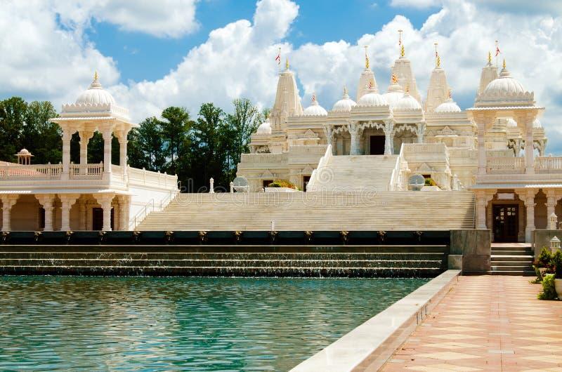 Hindu temple in Atlanta, GA. Hindu temple, BAPS Swaminarayan Sanstha Shri Swaminarayan Mandir in Atlanta GA stock photo