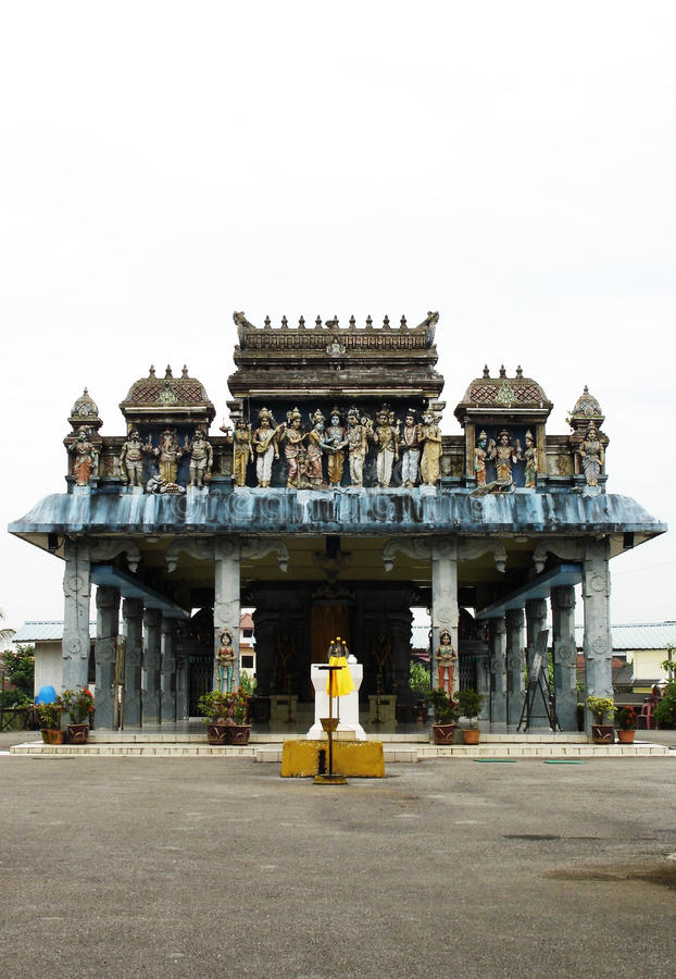 Hindu Temple in Borneo, Malaysia stock photography