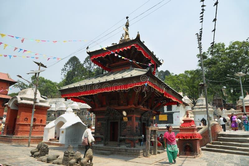 Hindu temple dedicated to Pashupatinath in Kathmandu, Nepal. stock photography
