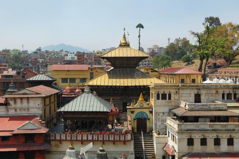 Hindu temple dedicated to Pashupatinath in Kathmandu, Nepal. royalty free stock images