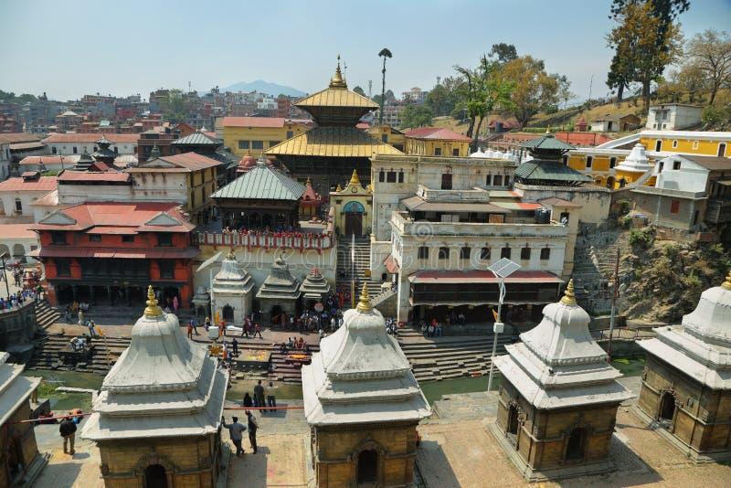 Hindu temple dedicated to Pashupatinath in Kathmandu, Nepal. stock photos