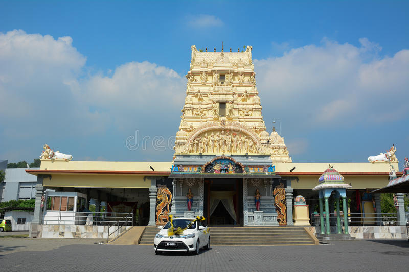 A Hindu temple at Georgetown in Penang, Malaysia royalty free stock photo