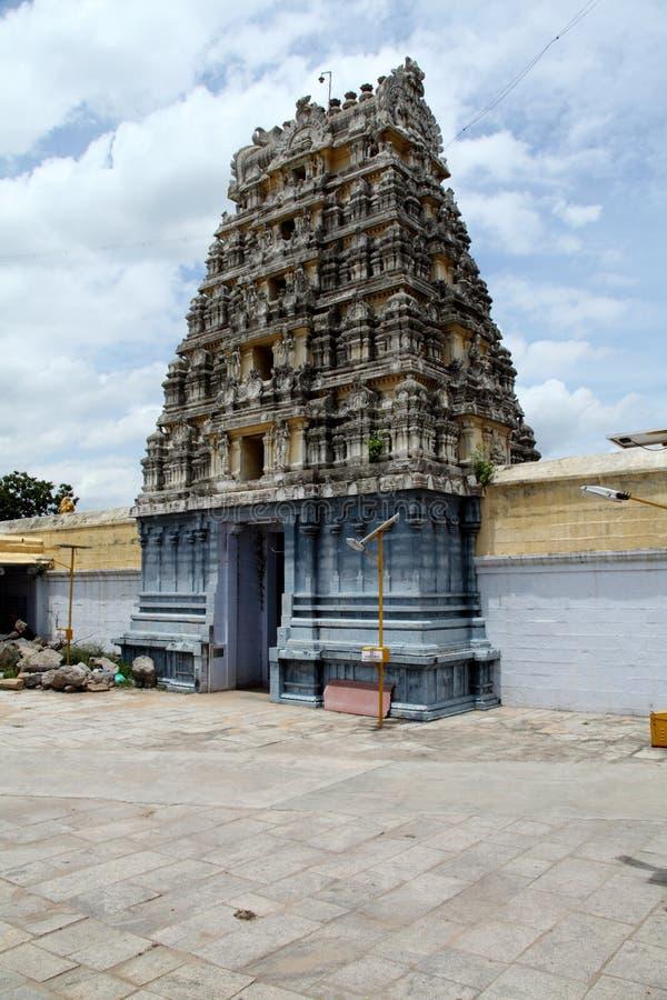 Hindu temple gopuram royalty free stock photo