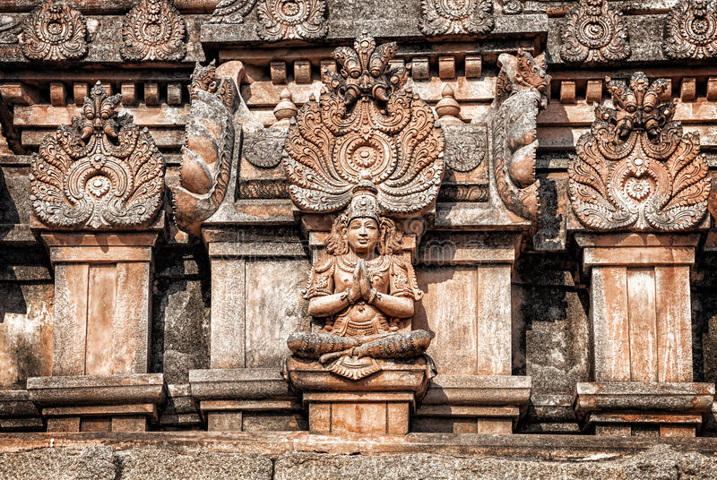 Hindu temple in Hampi stock images