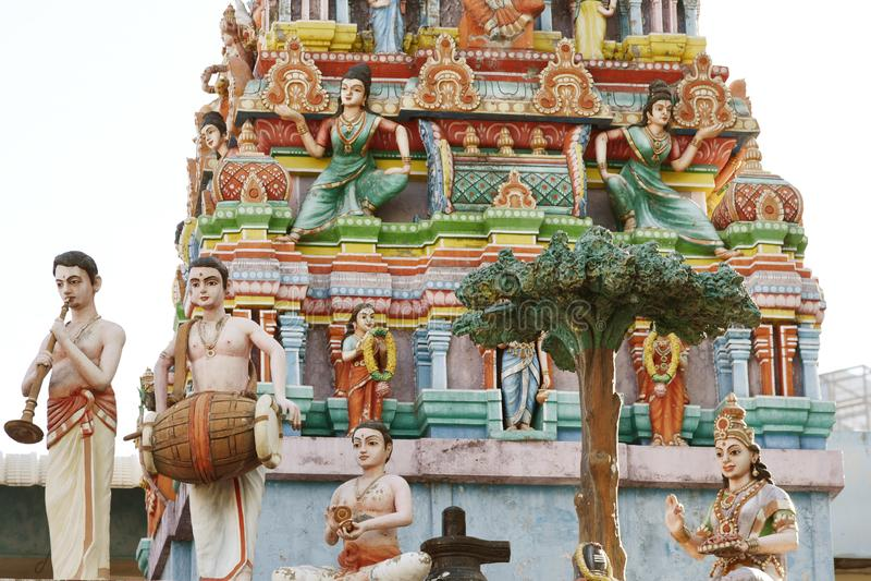 Hindu Temple - India. The Minakshi Sundareshvara Hindu Temple in the town of Madurai in the Tamil Nadu region of southern India royalty free stock photos