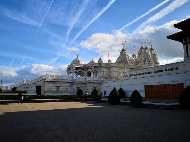 Hindu temple in London stock photo