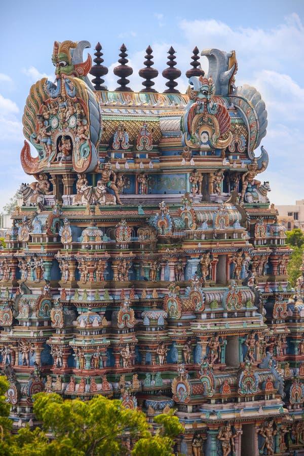 Hindu Temple - Madurai - India royalty free stock image