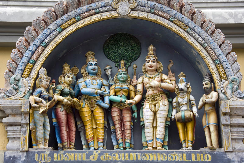 Hindu Temple - Madurai - Tamil Nadu - India stock photography