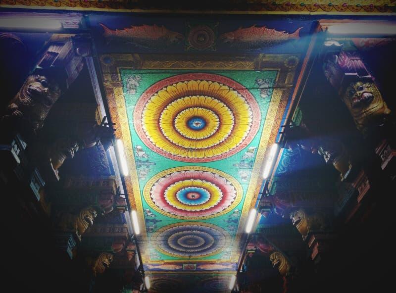 Hindu Temple Meenakshi. Meenakshi Amman Temple of the 2,500 year old city of Madurai royalty free stock images